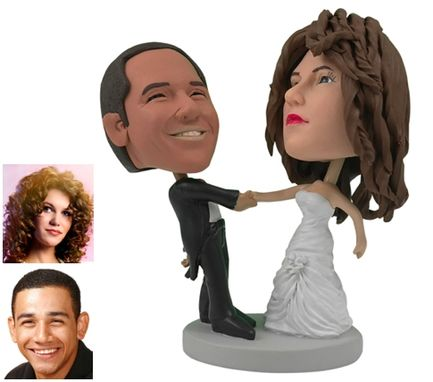 Custom Made Personalized Wedding Cake Topper Of A Couple Ballroom Dancing