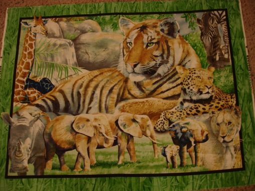 Custom Made Panel Lap Quilts - Tiger