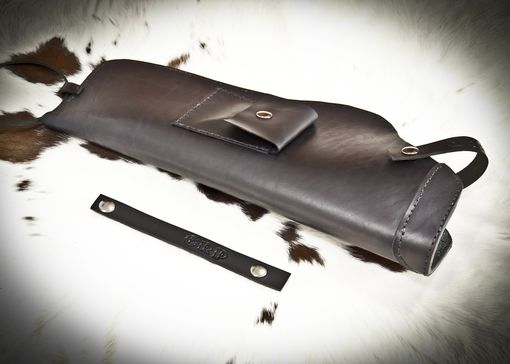 Custom Made Leather Holster For Ordnance Technology Ssp-86 With Scope