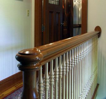 Custom Made Handrail And Half Round Door
