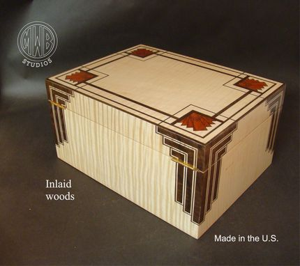 Custom Made Art Deco Styled Humidor With Free Shipping And Personalization.
