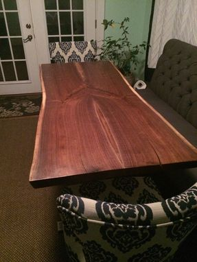 Custom Made Live Edge Walnut - Bookmatched Masterpiece - Dining Table