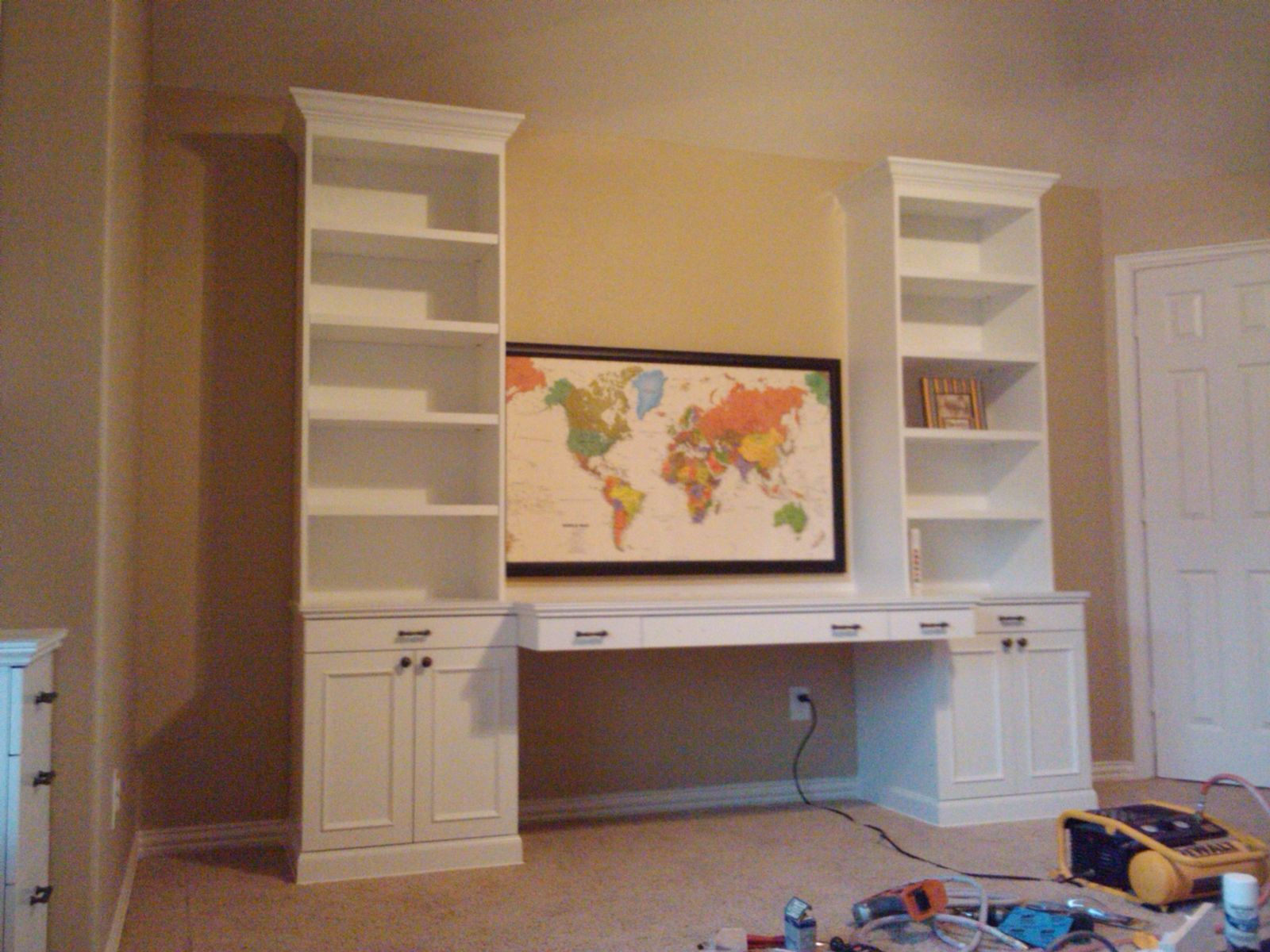 Handmade Playroom Project W Toy Boxes Bookcases Amp Desk By
