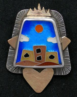 Custom Made Southwest Pueblo Necklace And Brooch
