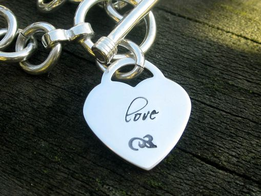 Custom Made Tag Bracelet With Sterling Silver Heart