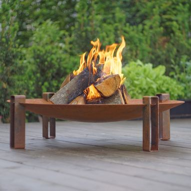 Custom Made Solid Carbon Steel Fire Pit Alna 31.5