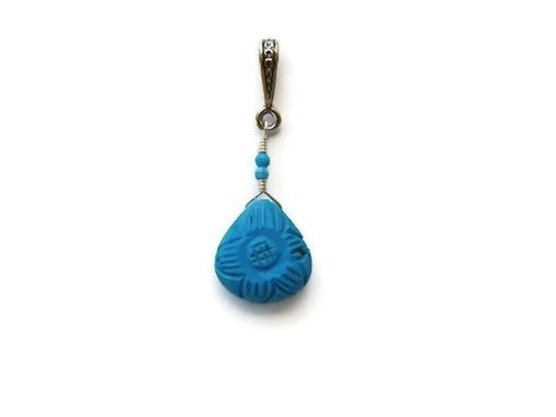 Custom Made Sleeping Beauty Turquoise Artisan Pendant