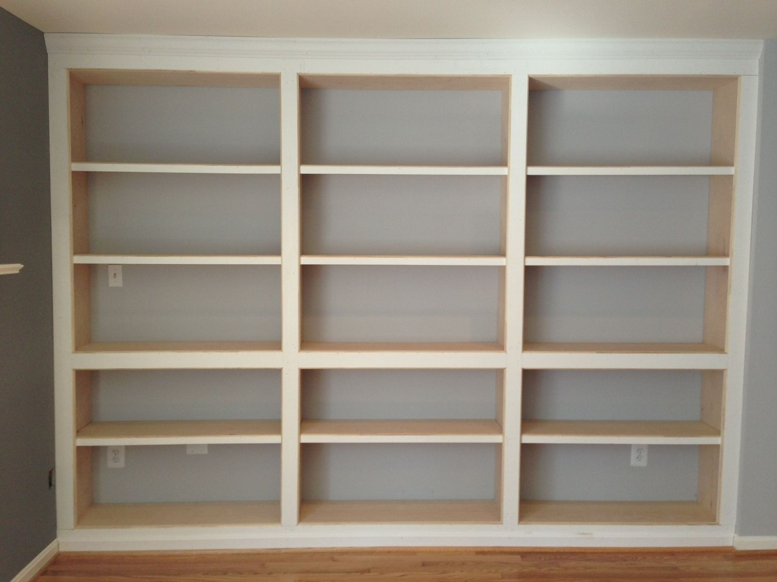 Hand Crafted Built-In Bookshelves, With Adjustable Shelves by PARZ Designs  | CustomMade.com