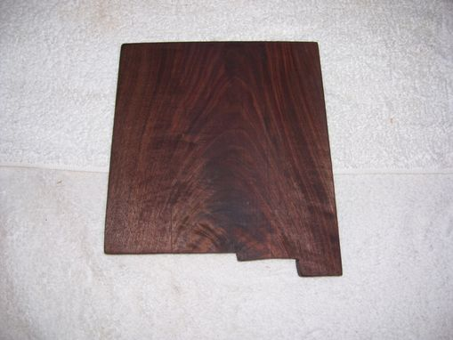 Custom Made Walnut Made State Of New Mexico Cheese And Cracker Cutting Board