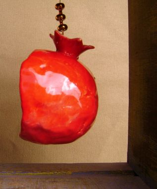 Custom Made Pomegranate Niche Ceramic Ornament With Bird, Nest And Cross With Berries