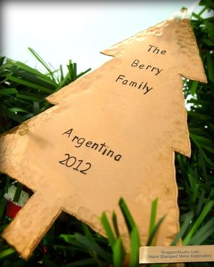 Custom Made Christmas Tree Ornament