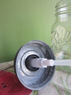 Custom Made Mason Ball Pint Jar Upcycled Soap Dispenser