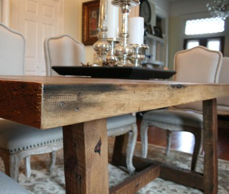 Custom Made The Pecky Dining Table-Farmhouse Style Table Made Reclaimed New Orleans Homes
