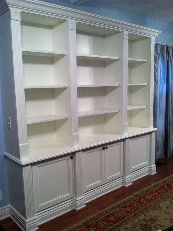 Hand Made Built In Bookcase By Custom Craft Woodworks