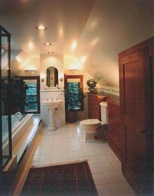 Custom Made Shaker Cherry Bathroom