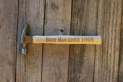 Custom Made Custom Engraved Wood Hammer --Ham-Lw-Best Man Since 1998