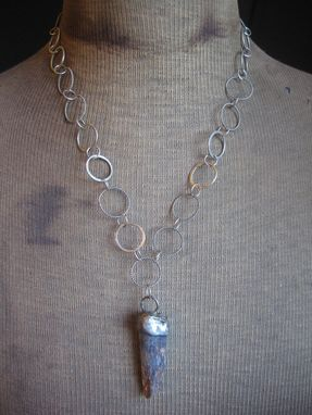 Custom Made Kyanite Pendant On Handmade Nickel Silver Necklace