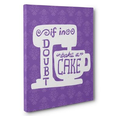 Custom Made If In Doubt Bake A Cake Kitchen Canvas Wall Art
