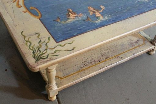hand made custom mermaid sea coffee tableecustomfinishes