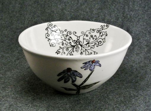 Custom Made Spring Butterfly Flower Bowl