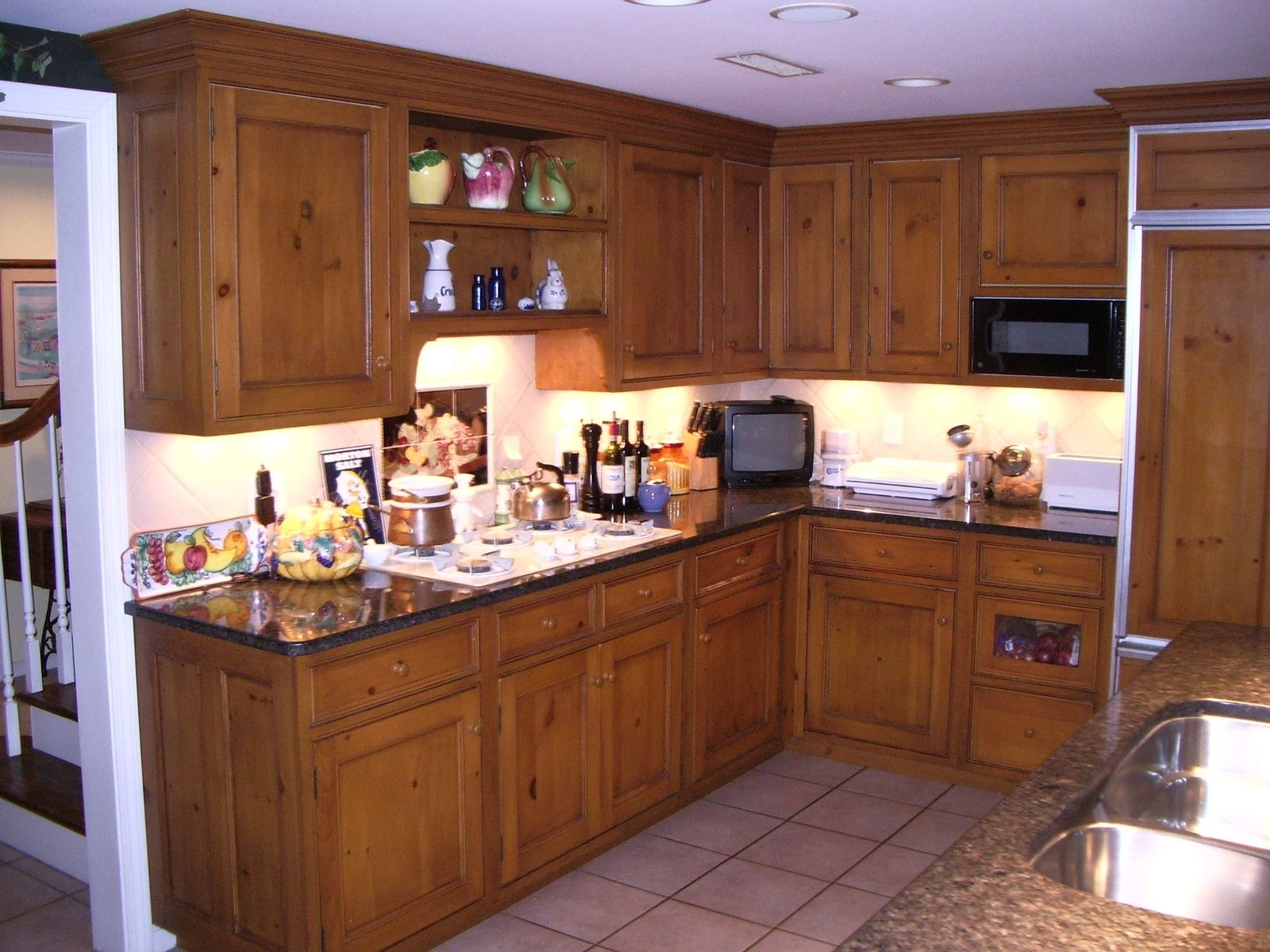 Handmade Knotty Pine Kitchen By Edko Cabinets Llc