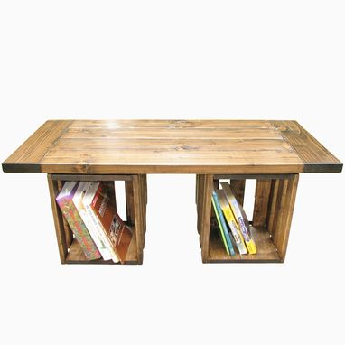 Custom Made Reclaimed Wood Farmhouse Style Coffee Table