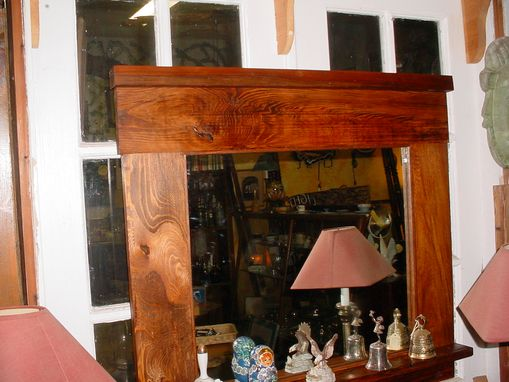 Custom Made Mission Style Hall Mirror Hat Rack, Built To Your Size