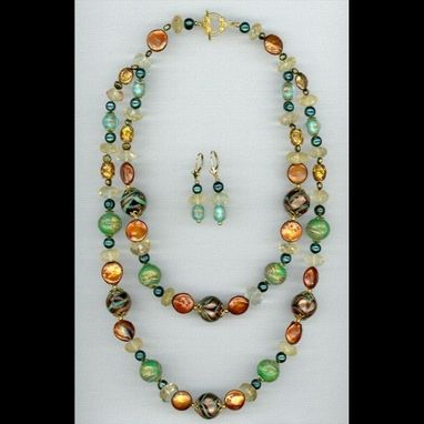Custom Made Harvest Necklace & Earrings Set