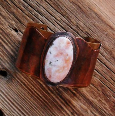 Custom Made Ocean Jasper Mixed Metals Cuff