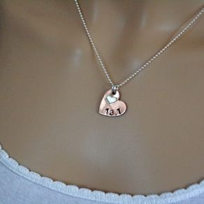 Personalized heart necklaces heart pendants custommade copper silver heart necklace by nana smith aloadofball Gallery
