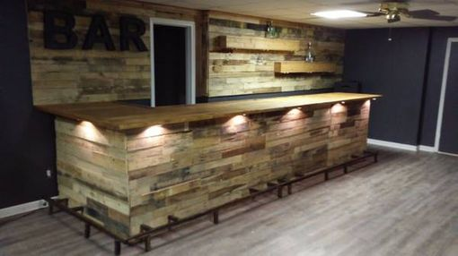 Custom Made Pallet Wood And Barn Wood Bars For Entertaining