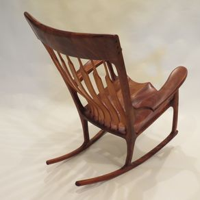 mahogany rocking chair by zachary brosious $ 3500 in rocking chairs