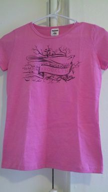 Custom Made Sale Birds Of A Feather, One Of A Kind Brooklyn Shirt, Small Pink