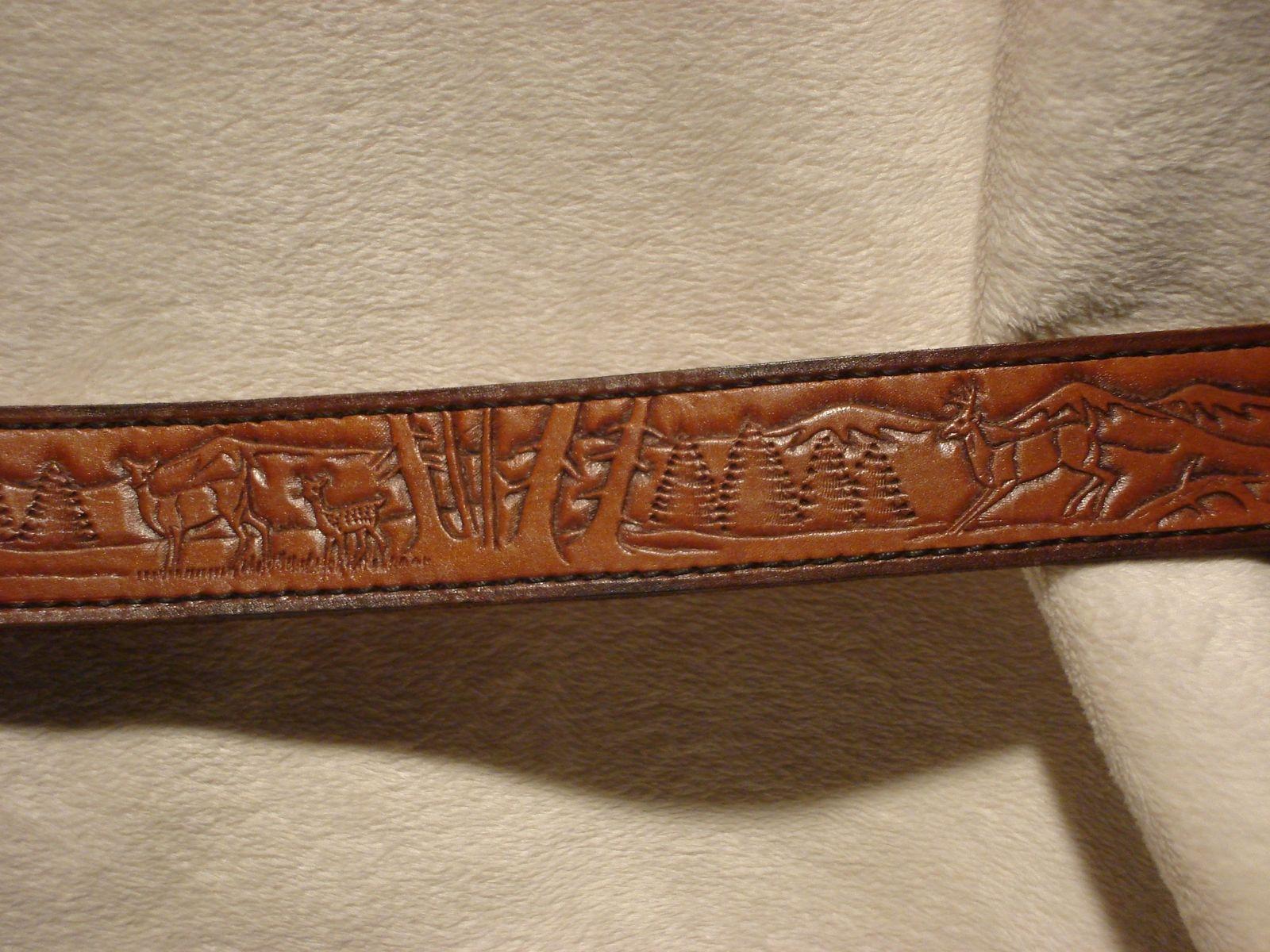 custom tooled leather belt by blackbull leather inc