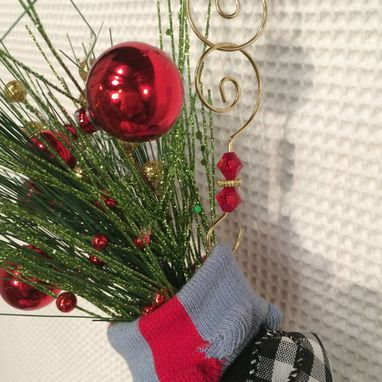 Custom Made Christmas Tree Ornament // Sock Ornament // Whimsical Ornament