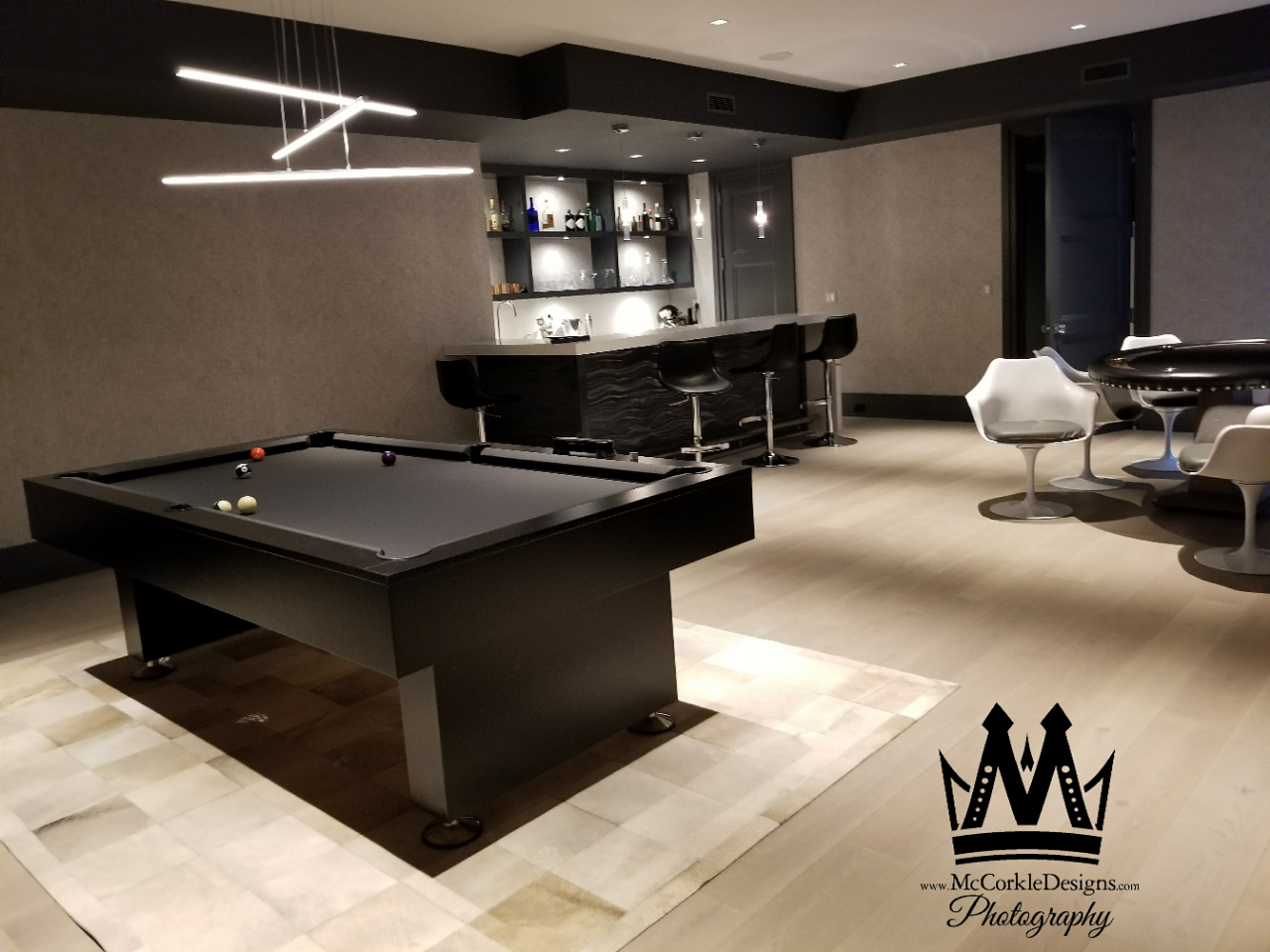 A Custom Made Pool Table Modern And Contemporary