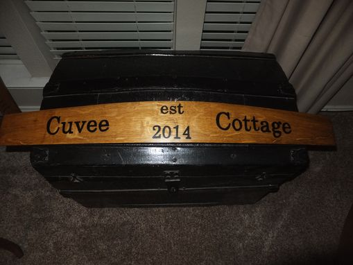Custom Made Barrel Stave Cellar Sign--Personalized