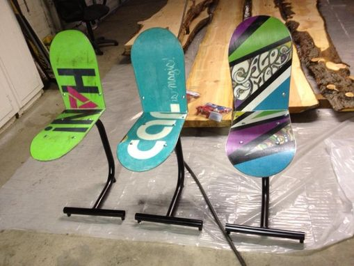 Custom Made Snow Board Stools