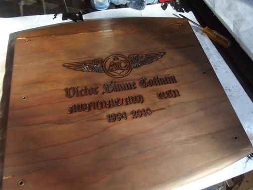 Custom Made Barrel Retirement Chest And Shadow Box