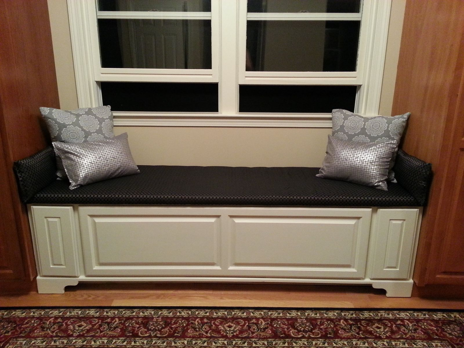 window seat cushions made window bench w drawers by the homestead 31589