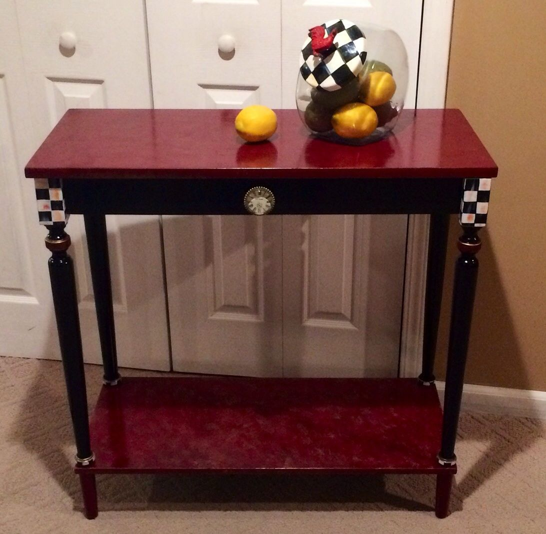 Fantastic Buy A Hand Made Hand Painted Console Or Sofa Table Black Home Interior And Landscaping Dextoversignezvosmurscom