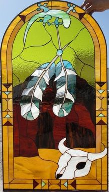 Custom Made Southwestern Stained Glass Window
