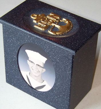 Custom Made Navy Cremation Urn