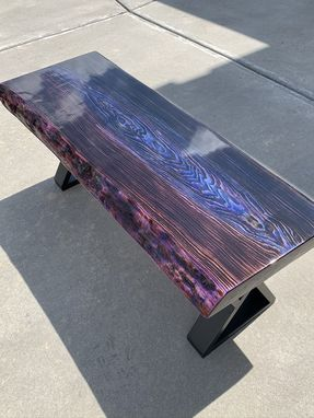 Custom Made Shou Sugi Ban Inspired Coffee Table