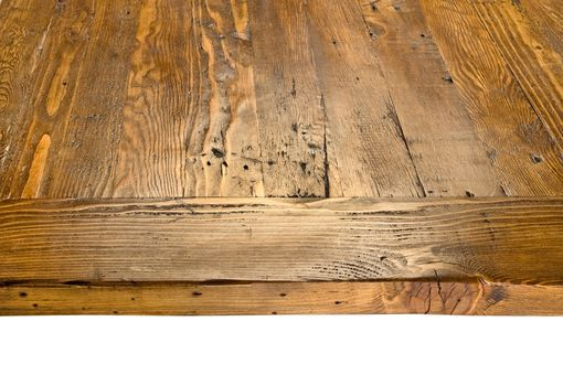 Custom Made Reclaimed Wood Stretcher Dining Table