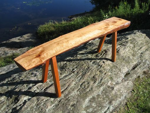 Custom Made '' Twisted Propeller '' Curly Maple Bench