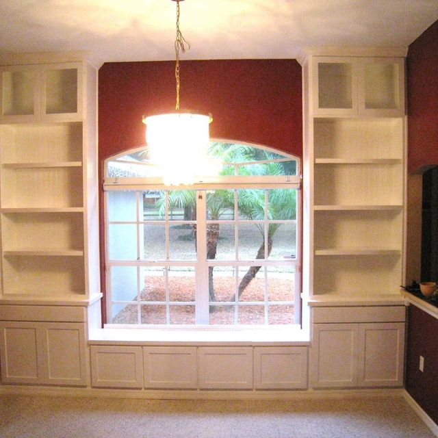 Hand Made Custom Built In Bookcases Window Seat By Natural Mystic Woodwork