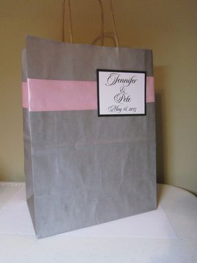 Custom Made Monogram Gift Bags
