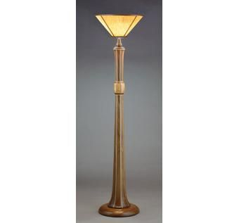 Custom Made Comfort Floor Lamp W/ Translucent Wood Shade
