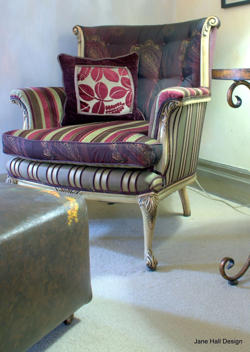 Hand Crafted Upholstered Vintage Arm Chair by Jane Hall ...
